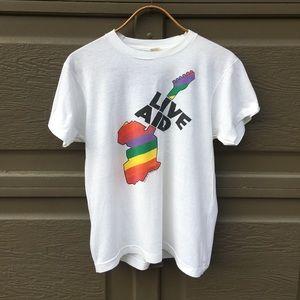 vintage live aid concert t-shirt